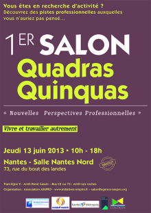 Affiche salon quadras quinquas